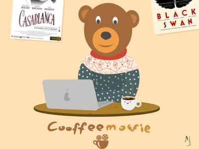 Bearman hello dribbble illustration