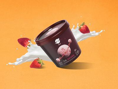 Planet ice cream strawberry packagedesign package design packaging pack ice cream iceland icecream ice designer hello dribbble vector adobe typography post photo hello poster branding illustration design