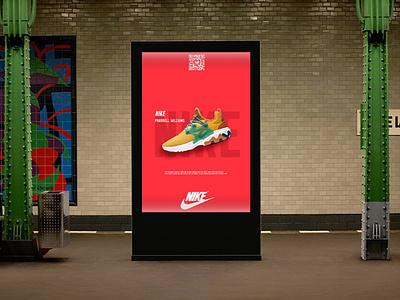 Nike Ads concept advertising adsense ads graphic hello dribbble vector adobe typography photo hello poster branding illustration design