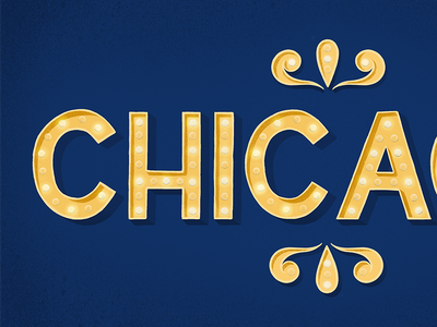 Chicago Lights hand-lettering lettering