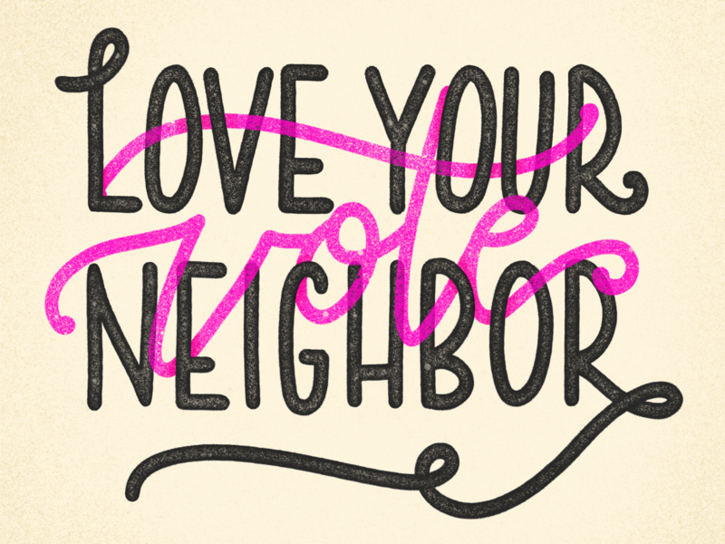 Vote vote colors lettering hand-lettering