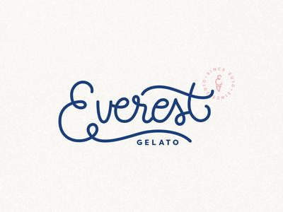Everest Gelato logo lettering gelato logo design passion project logo
