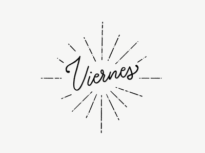 It's Viernes! hand-lettering lettering friday viernes
