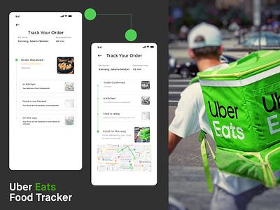 Uber Eats Food Tracker Exploration design figmadesign mobile apps ux design uidesign app design ubereats uber figma user interface ux ui food app delivery food