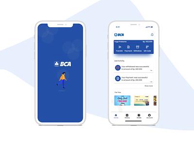 BCA Mobile Banking dashboard design dashboard app dashboard ui splash screen splashscreen figmadesign figma vector design illustration uidesign ui app design mobile apps