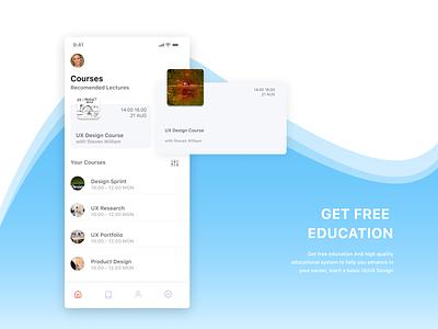 E- Learn apps e-learning figma design ui mobile apps apps design product design ux design ui design apps