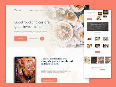 Landing Page for Restaurant web design ui figma ux design uidesign design