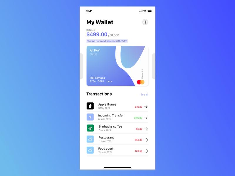 2_UI Daily Challenge_Credit Card #DailyUI creditcard dailyui flat minimal app ui design