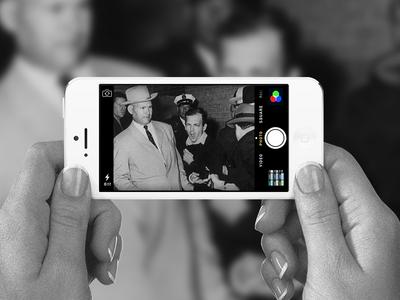 Lee Harvey Oswald on iOS 7 ios ios7 jfk