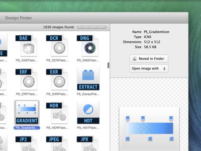Design Finder App osx cocoa mac design search tool utilities browser window