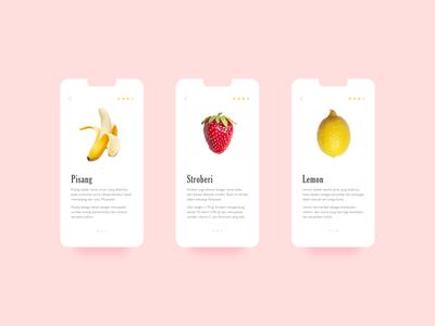 Fruit Rate dribbble ui flat design
