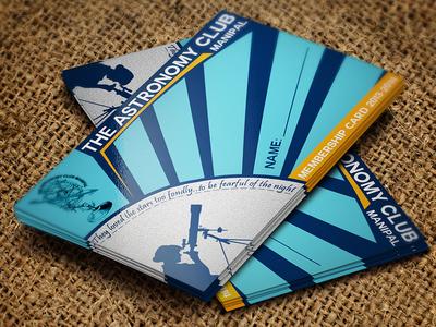 Astronomy Club Membership Card card astronomy telescope starburst membership manipal college university