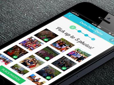 Stadium Lane - Image Selector iphone app app colorful 7 ios7 iphone ios flat design ux design ui design