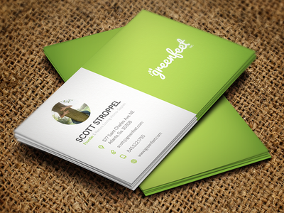 Greenfeet Inc. - Business Card product icons business card greenfeet eco green nature business modern card incorporation