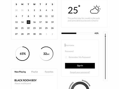 Free PSD - Superminimal UI Kit  ui kit ui kit psd free download design minimal white