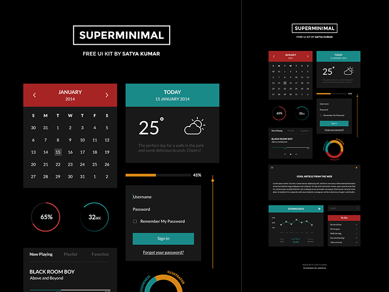 Superminimal kit v2 dribbble