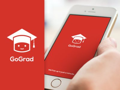 GoGrad App Logo illustration logo design ios 7 ios graduation mortarboard icon app