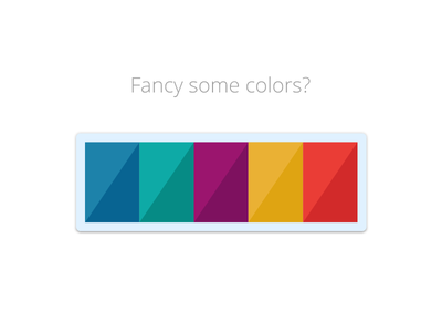 Fancy some colors? color swatch exploration design branding ui photoshop illustrator