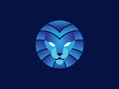 Lion king gradient logo branding logo design illustration creative logo golden ratio lion logo