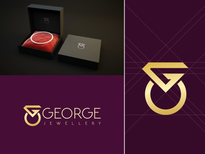 George jewellery monogram logo fashion logo creative logo branding flat logo jewellery jewellery logo