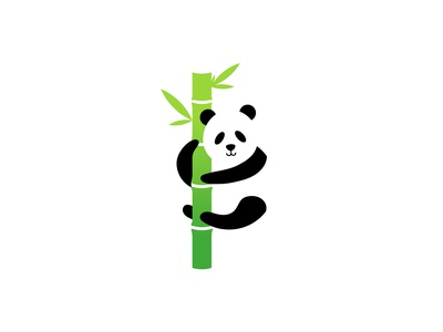Panda logo creative logo flat design bamboo panda global panda bear panda logo dailylogochallenge
