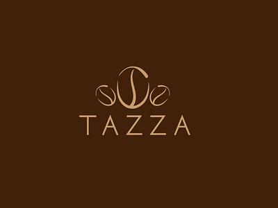 Coffee bean logo tazza flat logo logo design creative coffee bean logo coffee logo
