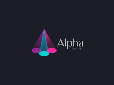Spotlight logo monogram logo party logo spotlight logo logodesign logo design flat logo creative logo