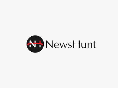 NewsHunt logo logo design flat logo monogram logo newshunt online news news logo