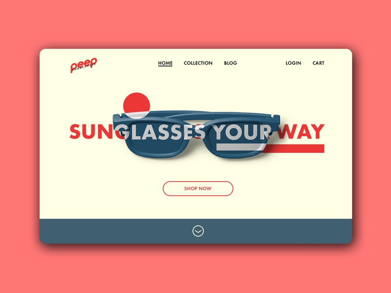 Daily UI | 003 sunglasses ui landing page concept clean minimal simple dailyui