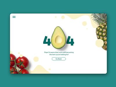 Daily UI | 008 fruits 404 concept ui simple minimal clean design dailyui