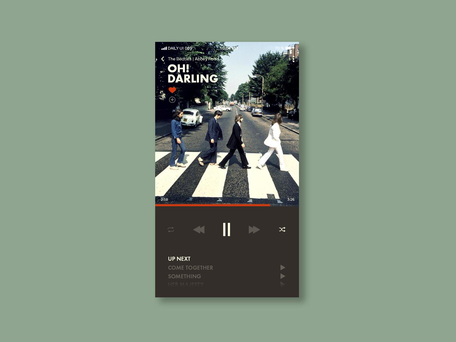 Daily UI   009 music app concept app ux ui simple minimal clean design dailyui