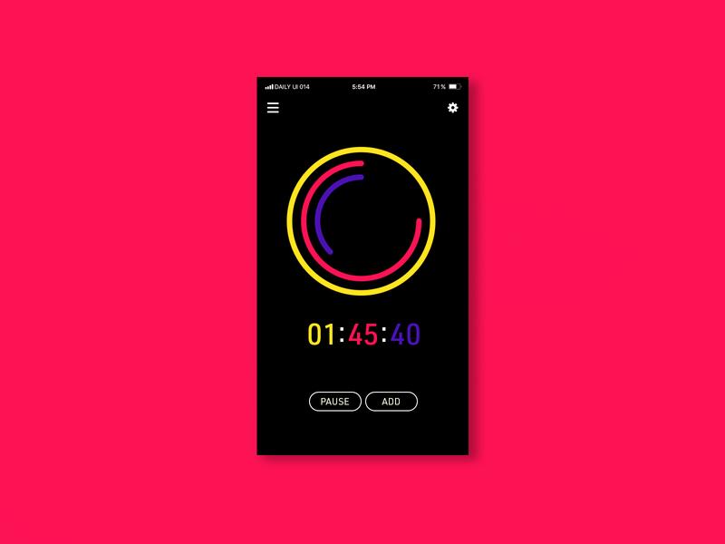 Daily UI | 014 app concept timer ux ui clean simple minimal design dailyui