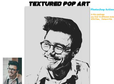 Textured Pop Art Photoshop Action