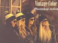 Vintage Color  Photoshop Action
