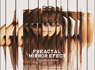 Fractal Mirror Effect Photoshop Action tutorial water reflection templates imgae fractal mirror photoshop brushes photoshop lightroom photo effect photoshop actions drawing realistic photo editing double exposure photography effect face portrait broken mirror mirror effect photoshop action