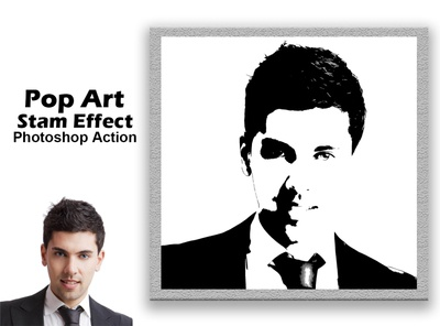 Pop Art Stamp Effect Photoshop Action halftone comic book photoshop action atn adobe photoshop photoshop tutorial realistic professional portrait images effect photography textures posterize drawing design photoshop stamp effect pop art pop art stamp action