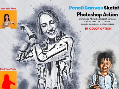 Pencil Canvas Sketch Photoshop Action photoshop photo effect photoshop action engraver acrylic action etching photo manipulation oil sketch color sketch hand drawing charcoal arttistic sketch vector sketch realistic sketch sketch portrait sketch art sketch action pencil sketch pencil drawing