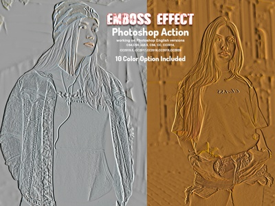 Emboss Effect Photoshop Action watercolor effect crystal metal glow photo effect drawing sketch art photoshop tutorial emboss deboss grunge photoshop stich artistic vector portrait photoshop styles bevel debossed embossed paper emboss action