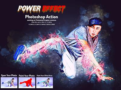 Power Effect Photoshop Action storm sparkle smoke particles magic cinematic thunder rocks dispersion powerful portrait realistic expolde effect energy electric explosion effect brushes photoshop lightning
