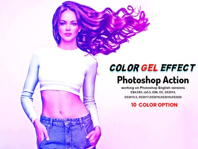 Color Gel Effect Photoshop Action photoshop cinematic edgy photo effect photoshop action multi color photo manipulation double light neon bright vector color art glow arttistic colorful light leak color light gel lighting lighting effects color