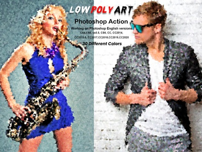 Low Poly Art Photoshop Action visual effects sketch futuristic painting effect vector art effect pencil art line art vectorizs poly art photoshop vector print artistic editing portrait photo effects polygon low poly photo manipulation geometric geometry