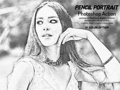 Pencil Portrait Photoshop Action colorful photo effect artist color paint real portrait watercolor action comic realistic cartoon pop poster outline sketch adobe photoshop modern pencil sketch quick sketch sketch art pencil sketch sketch portrait realistic pencil drawing sketch portrait action pen sketch photoshop