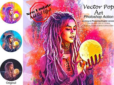 Vector Pop Art Photoshop Action comic book