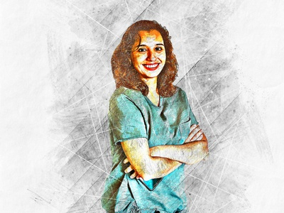 Portrait Sketcher Photoshop Action colorful
