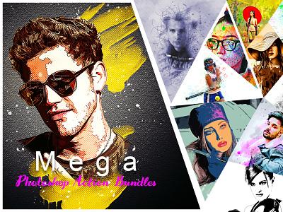 Mega Photoshop Action Bundles addons bundles