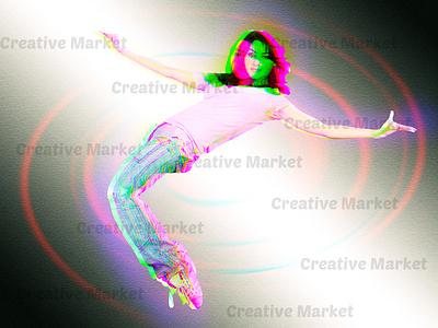 Anaglyph  Effect Photoshop Action digital  art