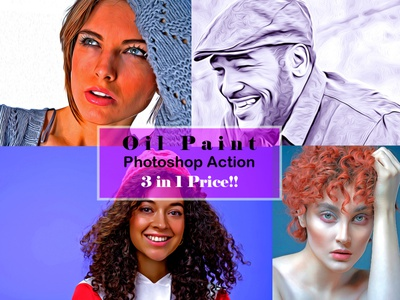Oil Paint Photoshop Action drawing