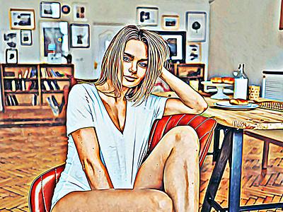 Portrait Oil Paint Photoshop Action oil sketch