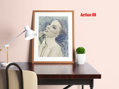 Watercolor Portrait Photoshop Action