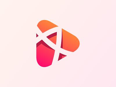 Letter A Logo with Play button modern logo logo for sale newdesigner graphic design letter a logomark trending newlogo artist art branddesigner design logodesigner logotype logo corporate branding brand identity abstract